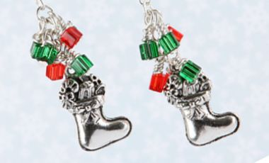 Christmas Stocking Earrings | Mini Make Monday