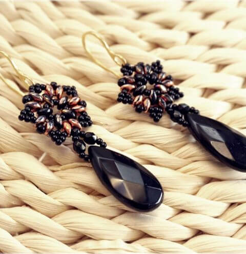 How to make Earrings with SuperDuo beads  - Jewellery Making Tutorial