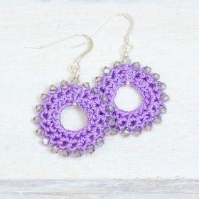 Purple Crochet Earring Kit by Dorothy Wood