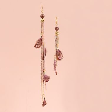 Asymmetric Feather Earrings