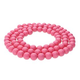 Milly™ / round / 6mm / pink / 140pcs