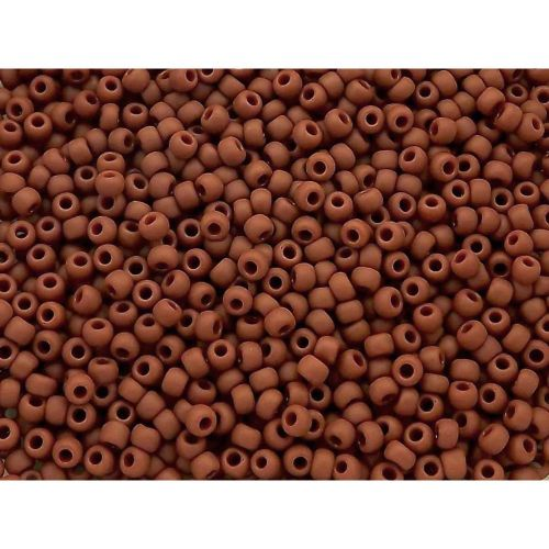 TOHO™ / Round / 15/0 / Opaque Frosted / Terra Cotta / 10g / ~1400pcs