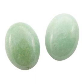 Aventurine / cabochon / oval / 13x18mm / grey-green / 1pcs
