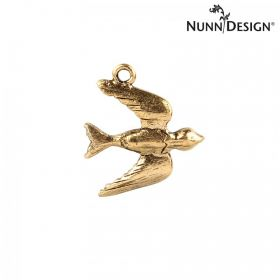 Nunn Design Antique Gold Bird Charm 19x20mm Pk1