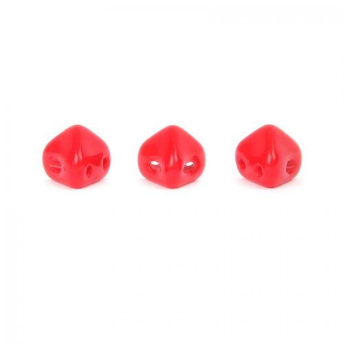 Opaque Coral Red Super Kheops Par Puca Beads 6mm 10g