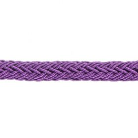 Purple Polyester Braided Chunky Cord 8x10mm 1 Metre