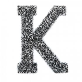 Swarovski Crystal Letter 'K' Self-Adhesive Fabric-It Black CAL Pk1