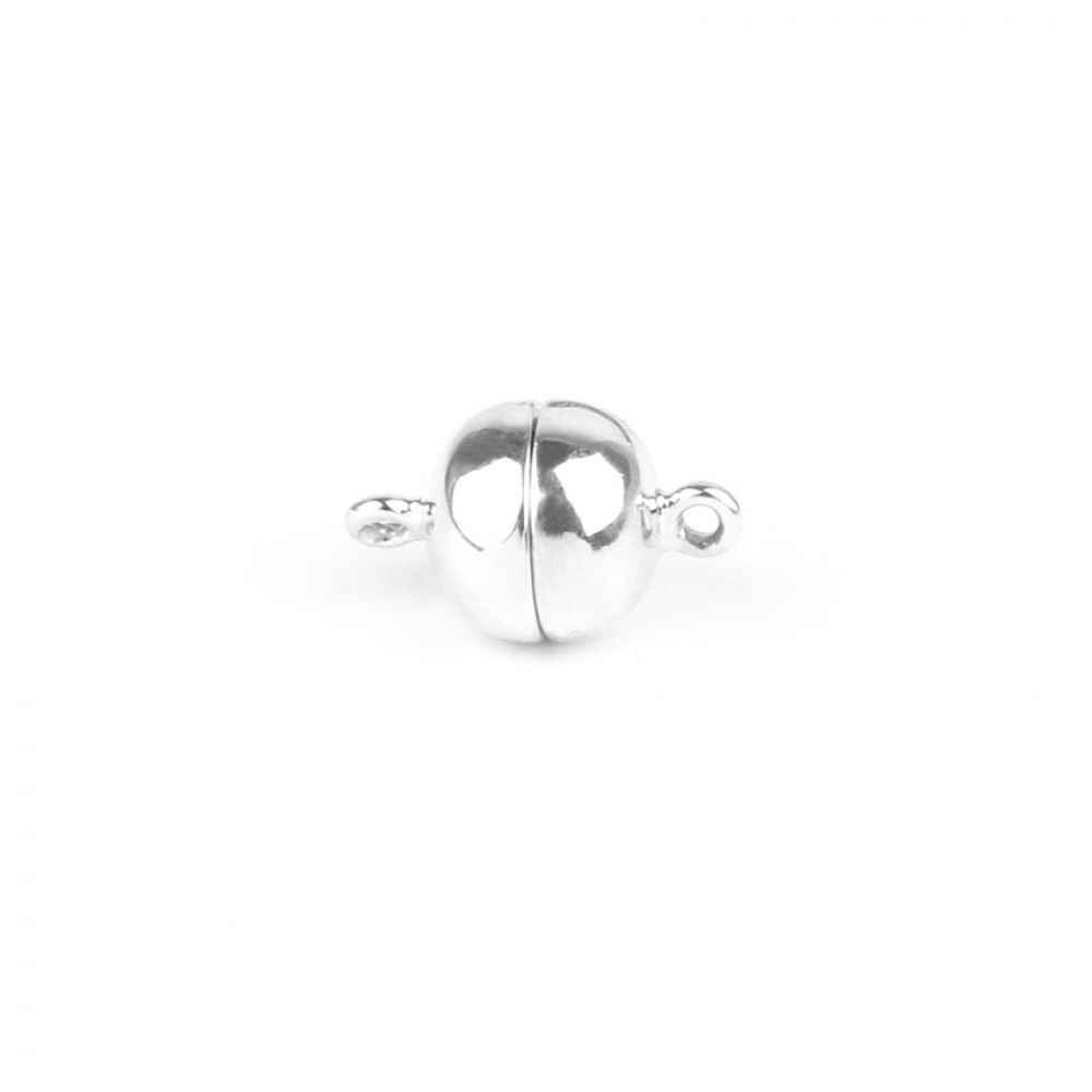 Sterling Silver 925 Magnetic Ball Clasp 6mm Pk1