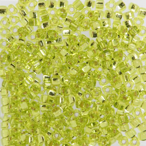 Miyuki Triangle 5 Seed Beads Silver-Lined Lime 10g