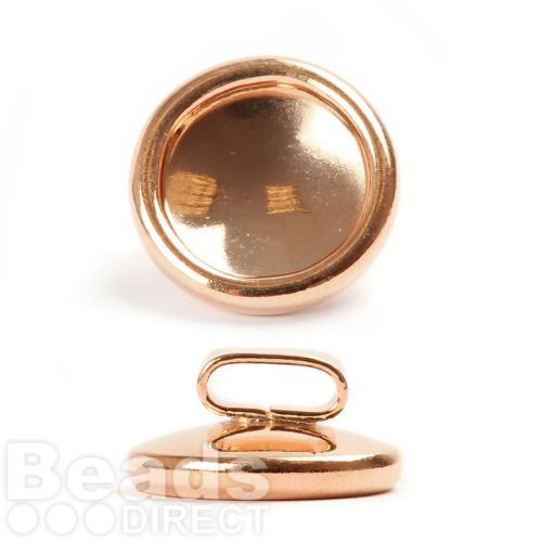 Rose Gold Plated Slider Charm Holder for 12mm Crystal Pk1