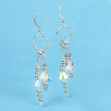 Sparkling Earrings made with Swarovski