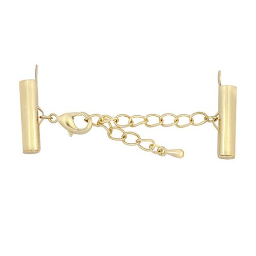 Beadalon Gold Plated Tube Ends and Lobster Clasp 1xSet