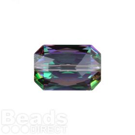5515 Swarovski Crystal Emerald Cut 12.5x18mm Crystal Paradise Shine Pk1