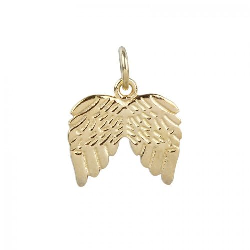 X Gold Plated Sterling Silver 925 Angel Wing Charm 12x15mm Pk1