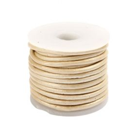 Pearl Round Leather 2mm Cord 5metre Reel