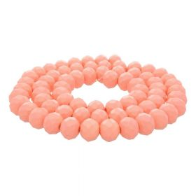 Milly™ / rondelle / 8x10mm / apricot / 70pcs