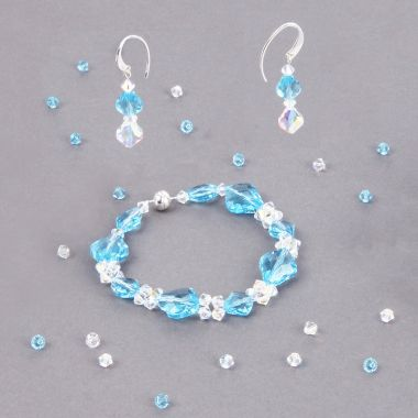 Baroque Crystal Jewellery Set