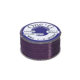 TOHO One-G ™ / nylon thread for beads / Purple / thickness 0.35mm / 46m