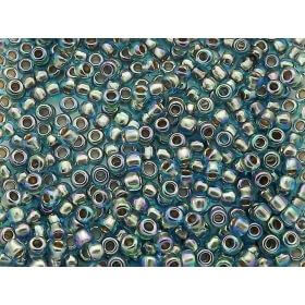TOHO ™ / Round 8/0 / Gold-Lined Rainbow / Aqua / 10g / ~ 300pcs