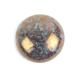 Par Puca Small Cabochon 18mm Opaque Grey Bronze Turquoise Bronze Pk1