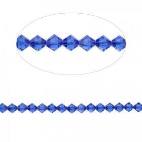 5328 Swarovski Crystal Bicone Beads 3mm Majestic Blue Pk24