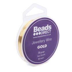 Gold Colour Copper Craft Wire 30 Gauge (0.2mm) 30metre Reel