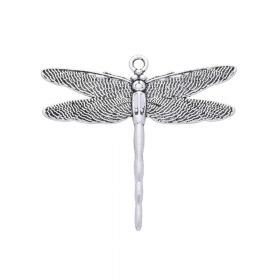 Dragonfly / pendant / 44x47x2mm / silver / 1pcs