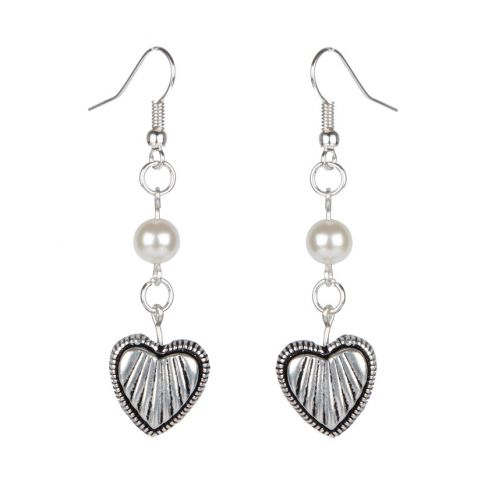 Heart and Pearl - Love Earrings