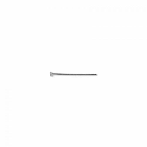 Headpins silver-plated 0.5x25mm. Pack of 100