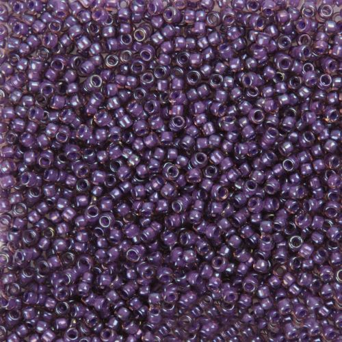 Toho Size 8 Round Seed Beads Inside Colour Rainbow Rosaline Opaque 7.5g TUBE