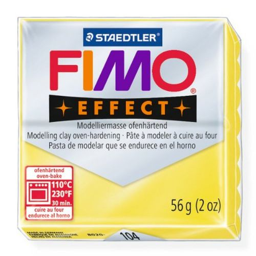 Staedtler Fimo Effect Polymer Clay Translucent Yellow 56g (1.97oz)