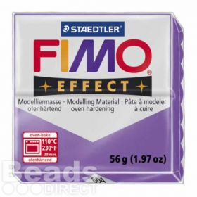 Staedtler Fimo Effect Polymer Clay Translucent Purple 56g