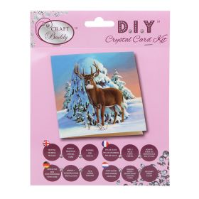 Craft Buddy 'Winter Stag' Crystal Card Kit