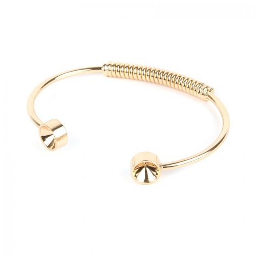 Gold Plated Brass Bangle Base Coil Holds SS39 70mm Pk1