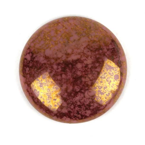 Par Puca Large Cabochon 25mm Opaque Rose Bronze Pk1