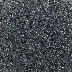 Preciosa Size 9 Rocaille Seed Beads Charcoal Lined Clear 50g