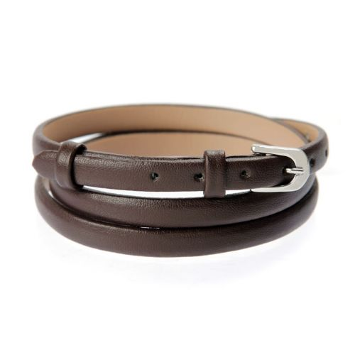 X-Brown Faux Leather Bracelet Strap with Buckle and Holes 62cm Pk1