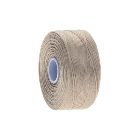BEADSMITH ™ / thread S-LON D / nylon / Tex 45 / Light Tan / 70m