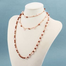 Rose Gold Infinity Crochet Necklace kit - Makes x1