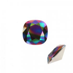 4470 Swarovski Crystal Square Fancy Stone 12mm Crystal Rainbow Dark F Pk1
