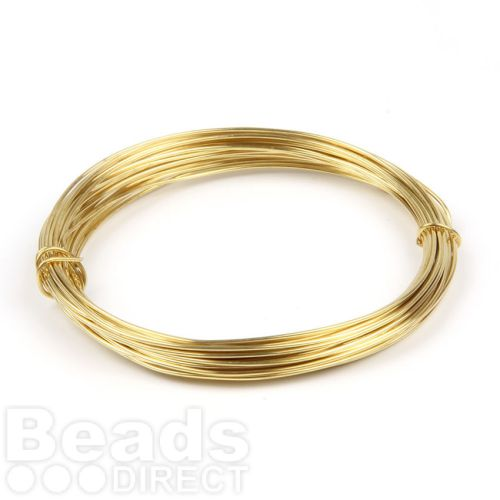 Brass Plated Copper Wire 0.8mm 6metre Coil