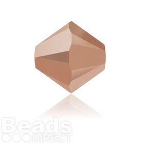 5328 Swarovski Crystal Bicones 6mm Crystal Rose Gold 2x Pk360