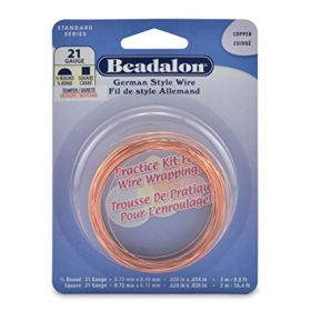Beadalon Copper Nickel Free Practice Wire Kit 21gauge 8m