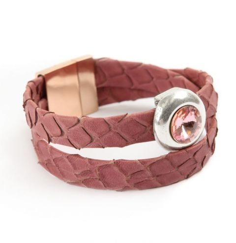 Jewel Wrap Light Rose Bracelet