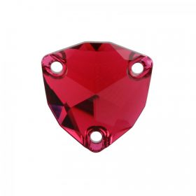 3272 Swarovski Crystal Sew On Trilliant 16mm Scarlet F Pk1