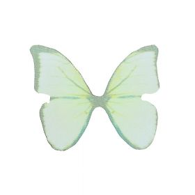 Butterfly wings / organza / 38x48mm / green / 4pcs