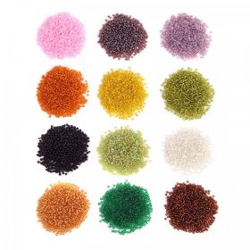 Seed Bead Great Value Pack 12 x 25g Assorted Colours