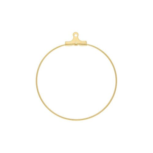Circle / earring base / surgical steel / wire thickness 0.8mm / 39x36mm / gold / 1pcs