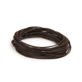 Waxed Cotton Cord 1mm Dark Brown 5metres