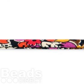Liberty of London Spaghetti Red and Black Primrose Mix 4mm 1m
